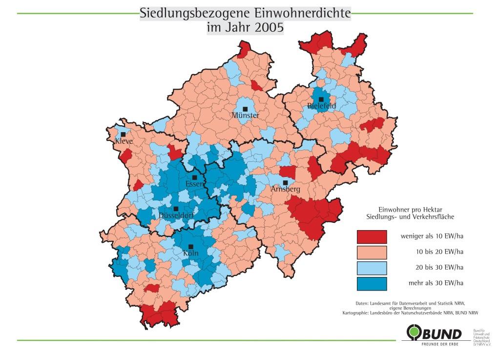 2005 Einwohnerdichte NRW