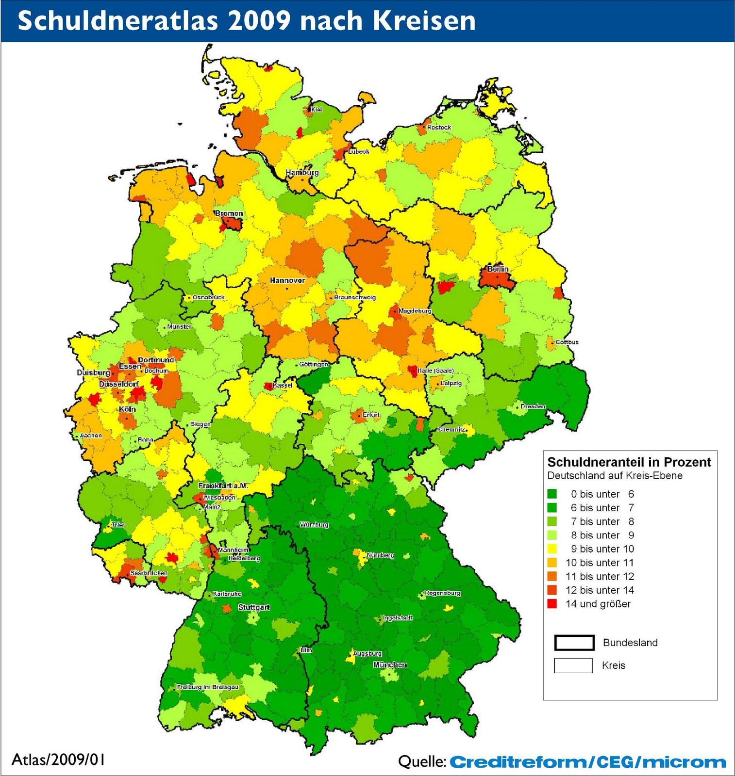 Deutschlandkarte_Schuldenatlas2009_Schuldner_nach_Kreis