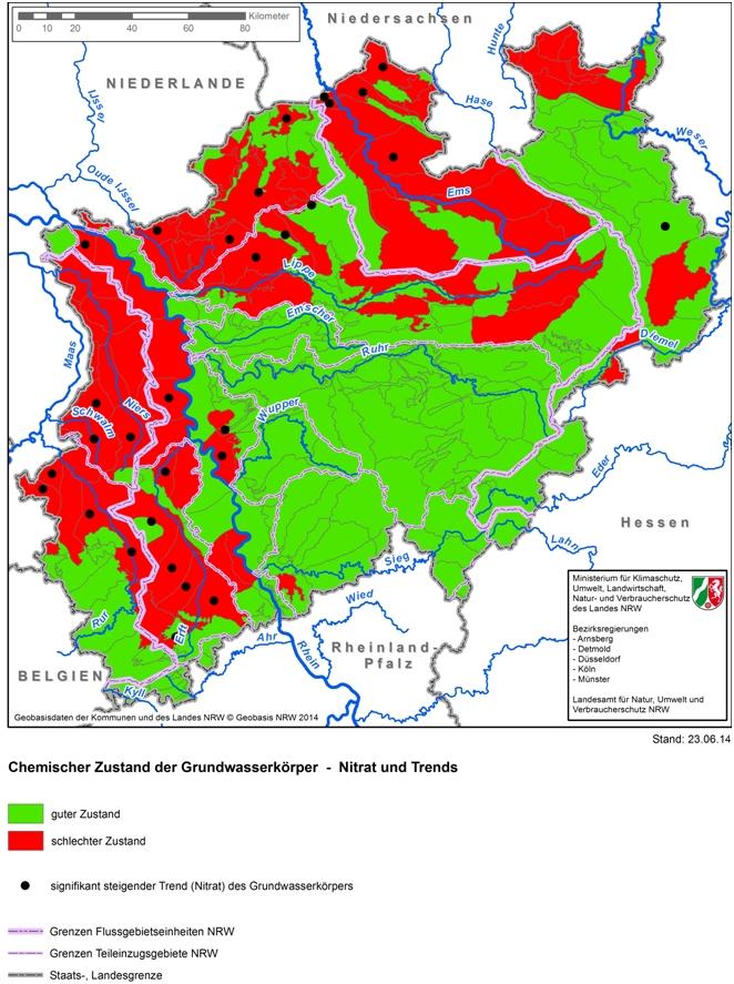 Nitrat in Mönchengladbachs Grundwasser